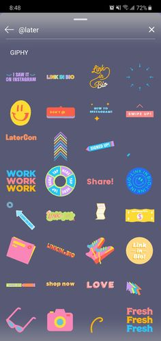 stickers Gifs, gif search by Instagram Editing Apps, Gif Instagram, Creative Instagram Stories, Instagram And Snapchat, Instagram Story Template, Instagram Story Ideas, Snapchat Emojis, Snapchat Stickers, Foto Editing
