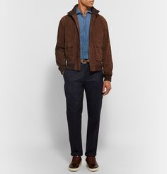 <b>Designed exclusively for MR PORTER.</b> <a href='http://www.mrporter.com/mens/Designers/Valstar'>Valstar</a>'s 'Valstarino' jacket is a perfectly executed archival style, inspired by A-1 flight jackets - the versatile hue, impeccable suede construction and comfortable fit guarantee it will never date. Purposely left unlined, it's insulating without feeling stifling and is ideal for layering up when the temperature drops.