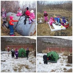 outdoor classrooms are also effective in the winter and allow for great learning experiences int the natural environment