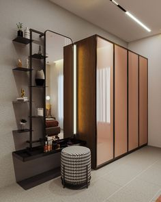 MODERN GUEST BEDROOM on Behance Bedroom Cupboard Designs, Wardrobe Design Bedroom, Master Bedroom Interior, Bedroom Furniture Design, Modern Bedroom Design, Modern Interior Design, Wardrobe Interior Design, Bedroom Decor, Indian Home Interior