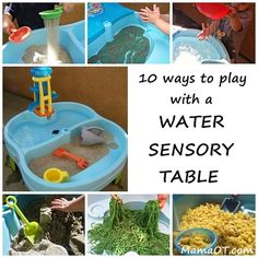 10 Ways to Play with a Water Sensory Table. Such a great resource for families with limited yard space or kids who need or love sensory play!
