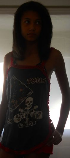 Crochet Upcycled Vintage Kiss and Ted Nugent 1988 Tour (looks better on a person yeah?), $24.99