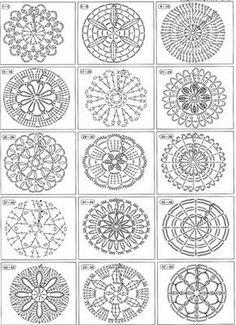 Gráficos redondos de crochê para imprimir