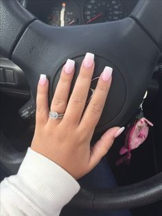 160 best eye catching and trendy coffin acrylic nails design - Beatiful Nail Art Design Acrylic Nails Natural, Pink Acrylic Nails, Acrylic Nail Designs, Gel Nails, Coffin Nails, Acrylic Art, Short Square Acrylic Nails, Short Square Nails, Pink Ombre Nails
