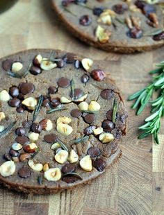 Castagnaccio (Italian Chestnut Cake) with chocolate chips... - Coconut and Berries