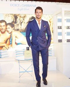 """""""#DavidGandy wearing @dolcegabbana in Sydney while attending the exclusive event of Light Blue fragrances at MYER #dglightblue """""""