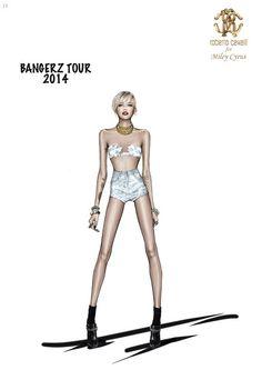 Miley Cyrus in Roberto Cavalli The Bangerz World Tour