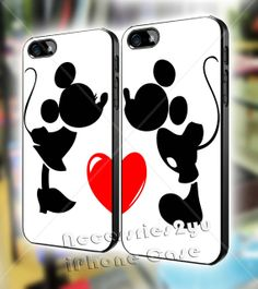 New Mickey and Minnie Kissing Couple Love iPhone 4, iPhone 4s, iPhone 5, iPhone 5s, iPhone 5c, Samsung Galaxy S3, Sasmsung Galaxy S4 Case on Etsy, $30.00