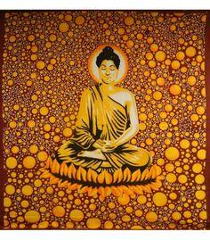 Kangas buddha abstrakti