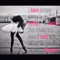 I #dance because... #Quote
