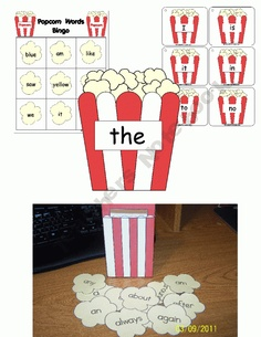 Popcorn Words Activity Pack Pre Reading Activities, Spelling Activities, Literacy Activities, Teaching Reading, Teaching Career, Educational Activities, Teaching Ideas, Learning Centers, Kids Learning