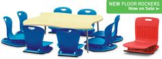 Shop New Floor Rockers & Tables from Virco! Get down with learning! Library Furniture, Find Furniture, Office Furniture, Preschool Furniture, 21st Century Classroom, School Desks, Business Furniture, Class Management, Smart Design