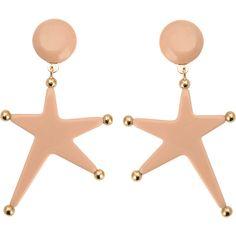 Marni Star Resin Earrings (16.910 RUB) ❤ liked on Polyvore featuring jewelry, earrings, pink, swarovski crystal jewelry, pink swarovski crystal earrings, marni earrings, pink earrings and clip earrings