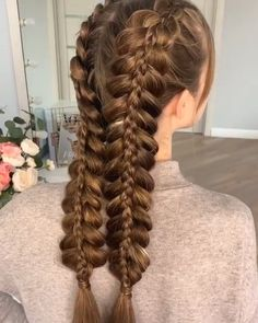 Top 60 All the Rage Looks with Long Box Braids - Hairstyles Trends French Braid Hairstyles, Box Braids Hairstyles, Latest Hairstyles, School Hairstyles, Braided Hairstyles For Long Hair, Hairstyles For Girls, Cute Hairstyles For Summer, Fashion Hairstyles, Easy Hairstyle