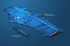 Gallery of unused Homeworld 2 starships designs - Lazarus & cruiser
