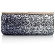 Jimmy Choo Trinket Degrade Glitter Clutch ($935) ❤ liked on Polyvore featuring bags, handbags, clutches, jimmy choo handbags, clasp purse, blue clutches, jimmy choo clutches and blue handbags