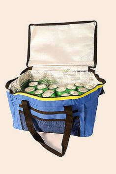 EXTRA LARGE 48 CAN 26 LITRE INSULATED COOLER COOL BAG CAMPING PICNIC COLLAPSIBLE  Our Price: £7.70
