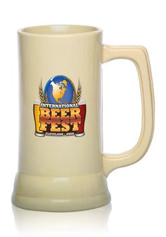 Custom Ceramic Beer Mugs Engraved or Printed for Cheap With Logos