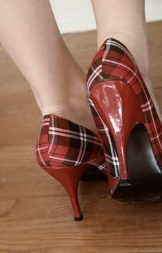 Fabulous vintage tartan heels