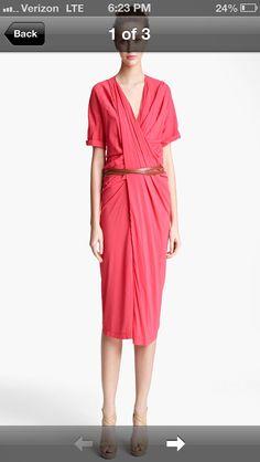 Donna Karan belted dress.