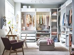 Attempting to install an IKEA PAX closet system? Avoid divorce court and a raging headache with these expert tips. Ikea Closet System, Ikea Pax Closet, Closet Bed, Ikea Storage, Bedroom Storage, Storage Ideas, Ikea Bedroom Wardrobes, Wardrobe Design Bedroom, Placard Pax Ikea