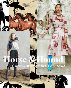 Autumn Winter 2020 21 Print Pattern Trend Horse Hound See By Chloe Fall 19 Victoria Beckham Resort 20 This Autumn Winter 20 21 Trend Is A Quirky Play With All Things Equestrian And Our Love Of Man S Best Victoria Beckham, 2020 Fashion Trends, Fashion 2020, Autumn Winter Fashion, Fall Winter, Conversational Prints, Fashion Forecasting, Winter Mode, Winter Trends