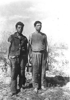 Sakolki, Poland, Two Jewish men who escaped a concentration camp.