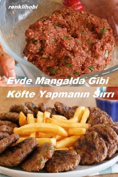 How To Make Meatballs, Making Meatballs, Turkish Recipes, Biscotti, Pesto, Recipies, Food And Drink, Appetizers, Beef