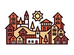 Little Town by Kevin Moran #Design Popular #Dribbble #shots