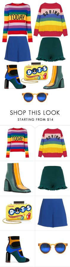 """from concentrate"" by nojawrabbit ❤ liked on Polyvore featuring Alberta Ferretti, Marni, Alice + Olivia, Opening Ceremony, Pierre Hardy, Spitfire and rainbow"