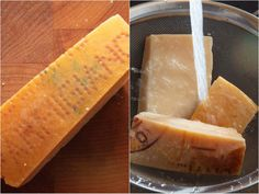 Parmesan Rind, Parmigiano Reggiano, Soup And Sandwich, Stock Recipe, Cooking, Soups, Sandwiches, Recipes