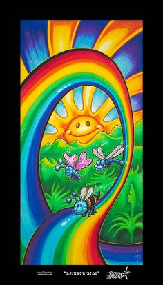 Rainbow Ride - Rolled Canvas - 16in x 32in