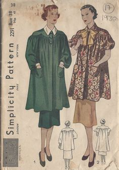 Unsung Sewing Patterns: Simplicity 2291 - Misses& and Women& Smock Vintage Sewing Patterns, Knitting Patterns, Sewing Ideas, Sewing Diy, Sewing Hacks, Sewing Crafts, Vintage Outfits, Vintage Fashion, Vintage Clothing
