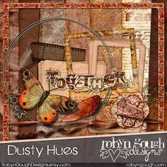 Fall Digital Scrapbook Kit Clip Art  Dusty by RobynGoughDesigns, $4.00