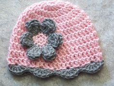 Baby Crochet Girl Hat Infant Crochet Hat by crochethatsbyjoyce, $14.00