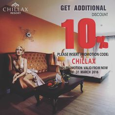 Celebrate your holiday break in Thailand with an Additional 10% Discount on all the bookings made through our official website. This promotion is valid for reservation between now until 30th November 2016.#chillaxresort #chillax #resort #Hotel via http://ift.tt/1PyClni