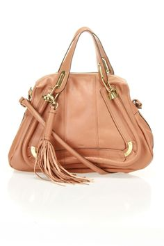 Chloe Leather Shoulder Bag with Tassle.