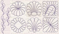 quilting motif (possible pattern designs on cake) Quilting Stitch Patterns, Machine Quilting Patterns, Quilt Patterns Free, Machine Embroidery, Tangle Patterns, Hand Embroidery, Quilting Stencils, Quilting Templates, Embroidery Designs