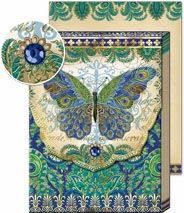 Peacock Butterfly Patchwork Collage Note Pad: Punch Studio: FairyGlen.com