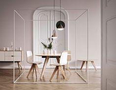 Дизайн-студия outofstock объединили две геометрические фигуры и промышленных чувствовал, чтобы создать этот уникальный глядя лампу, для датской мебели марки Болиа.