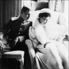 """Grand Duchess Elisabeth Feodorovna Romanova of Russia with Grand Duke Dmitri Pavlovich Romanov of Russia. """"AL"""""""