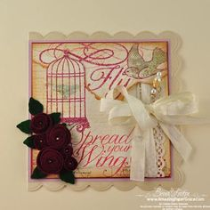 Amazing Paper Grace Popup Birdcage Card - Tutorial Part 1