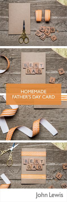 Treat your Dad to a homemade personalised card this Father's Day.