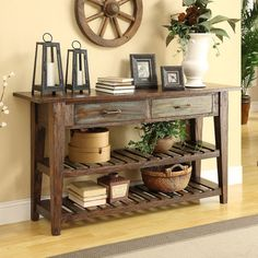 Weathered Green Console Table.