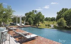 Country Brick Pool Deck