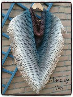 Crochet Shawl. Yarn is Scheepjes Whirl 766: Mid Morning Mocharoo.