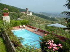 This 17th Century Villa Cappella overlooks Lucca and is an hour away from Florence.