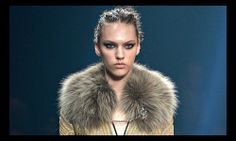 More really is more in Cavalli's celebration of sheer decadence: Italian designer's Milan show featured glamour in abundance, with almost every model in fur, leading to protests from animal rights groups