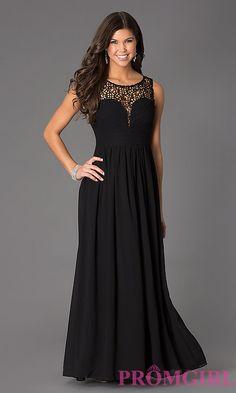 Sleeveless Floor Length Lace Embellished Dress