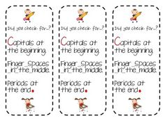 This is a great bookmark to include in your students writing folders. ...